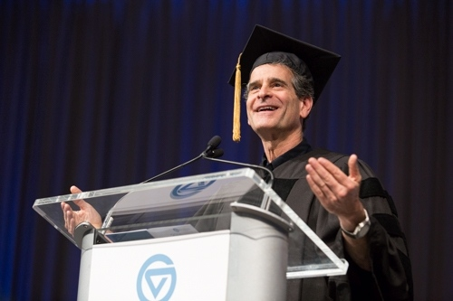 Dean Kamen gives a convocation address.